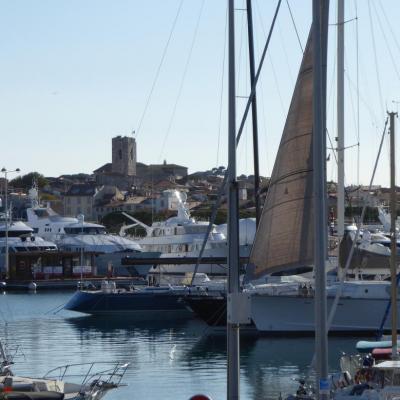 Le port avec la vieille ville